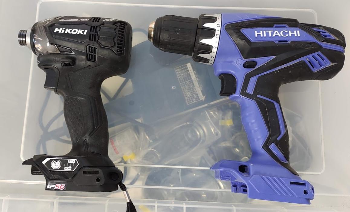 HIKOKI 36V インパクトドライバー WH36DA(黒) 14.4Vドライバードリル FDS14DGL(2LEGK)(青)DIY用途ではインパクト有無しのどちらがよい?